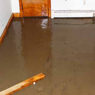 basement water damage cleanup in Wendell NC
